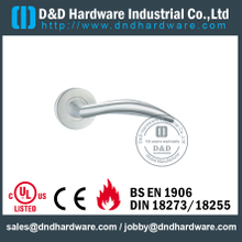 SUS 316 Solid Lever Handle on Rose Concealed Fix for Steel Doors -DDSH007