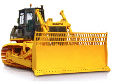 Waste management SD22R Shantui Bulldozer working