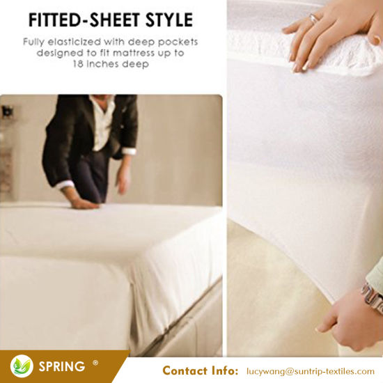 Premium Waterproof Mattress Protector - Dust Mite, Bacteria Resistant - Hypoallergenic - Fitted Deep Pocket