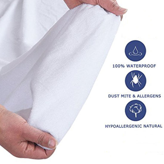 Hypoallergenic Bed Bug Proof Protection From Fluids Dust Mites Waterproof Mattress Cover