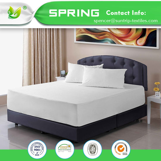100% Waterproof Mattress Protector with Cotton Terry Surface Bed Bug Proof Vinyl Free Fitted Style