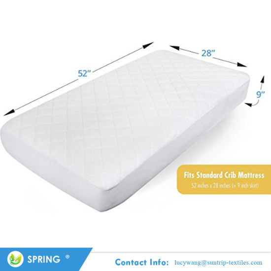 100% Waterproof Fitted Baby Pad Quilted Mattress Protector for Baby Cot