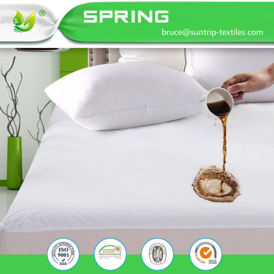 100% Waterproof Mattress Protector Hypoallergenic, Breathable Soft Cotton Terry Surface