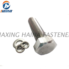 DIN933 A2-70 SS304 SS316 Stainless steel Full Threaded Hex Head Bolts , Hex Cap Screws
