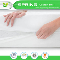 Hot Selling Price Cotton and Polyester Twin Size Mattress Cover Anti-Dust Mite Mattress Encasement with TPU