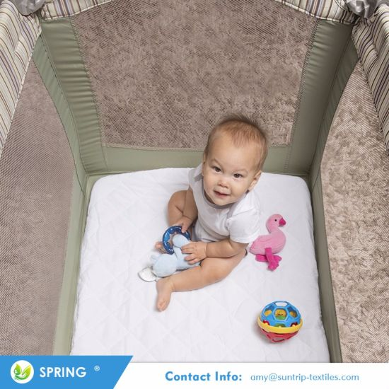 Chinese Suppliers Non Slip Design Non-Toxic Hypoallergenic Materials Crib Mattress Protector for Baby Cot