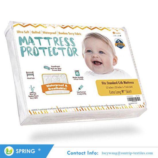 Topper Protector Dust Mite Protected Waterproof Mattress Protector for Baby Cot