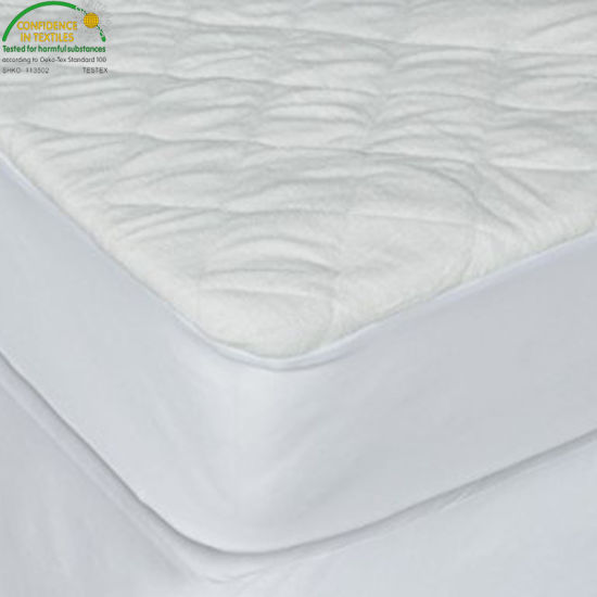 Hypoallergenic Vinyl Free Breathable Soft Cotton Terry Surface Baby Mattress Pad Protector Cover