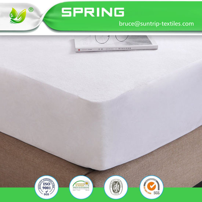 Waterproof Terry Towelling 100% Cotton Mattress Protector Fitted Bed Cover New