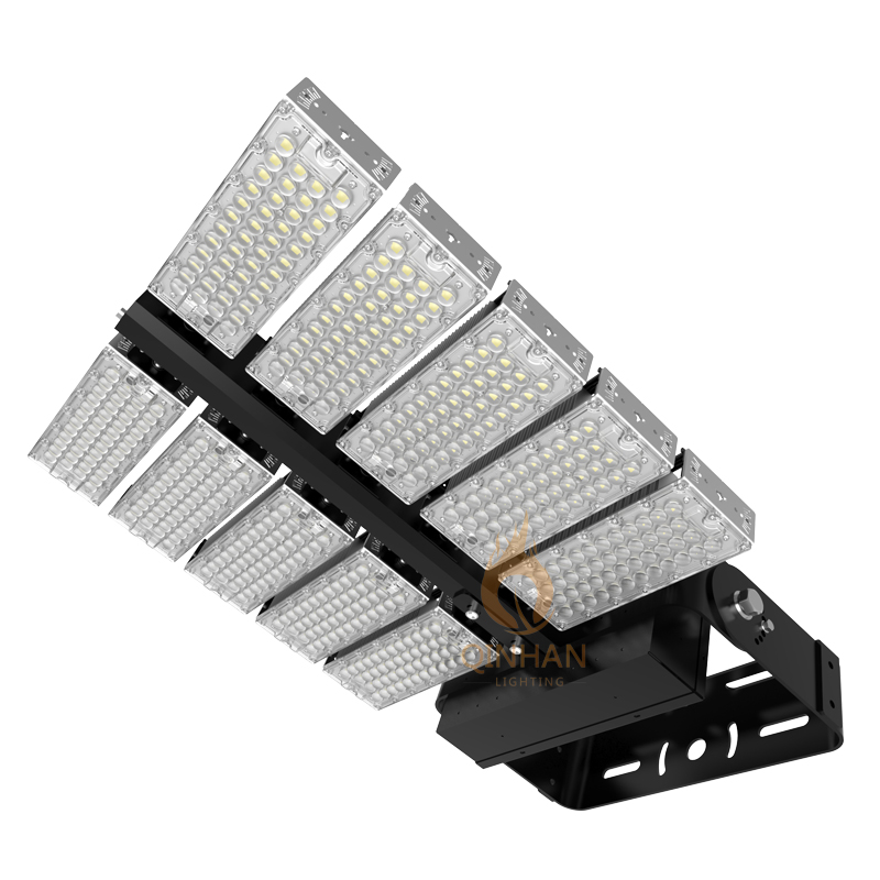 Rotatable 160lm/W Outdoor Square 1000W LED Football Tennis Sport Court High Mast Flood Light Fixture
