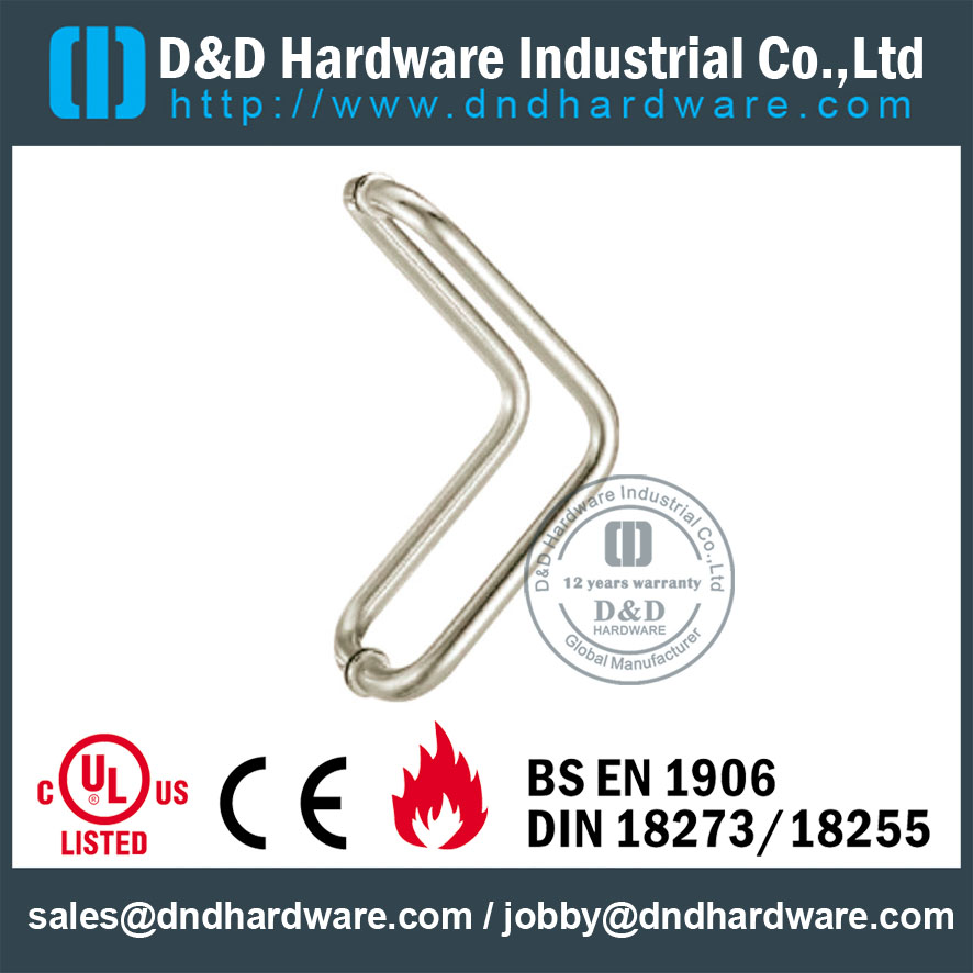 Stainless Steel 304 Corniform Pull Handle For Front Glass Door Dd