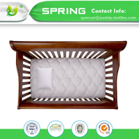 Hangzhou Textile Favorable Price Cotton Waterproof 100% Bed Bug Proof Baby Crib Mattress Encasement with TPU