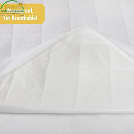 Hot Selling Amazon Bamboo Fiber Quilted Crib Mattress Pad for Baby Cot