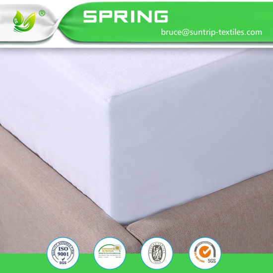 King Size Waterproof Bamboo&Cotton Blend Terry Cloth Mattress Protector