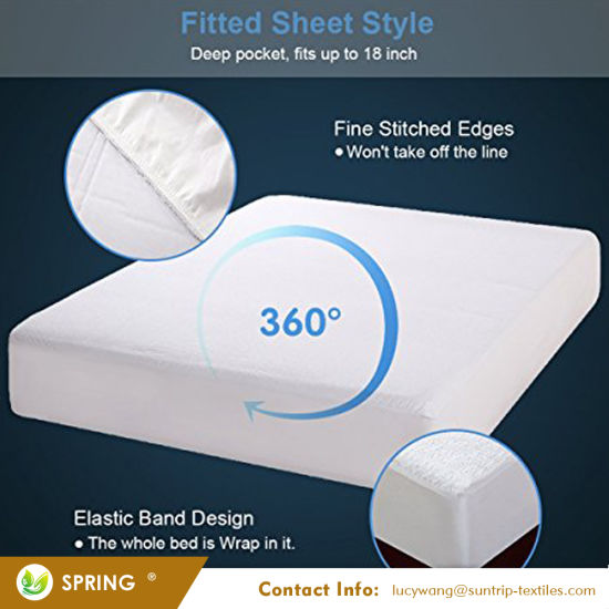 Queen Size Premium Hypoallergenic Terry Fabric Waterproof Mattress Cover