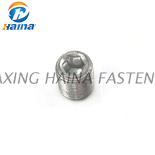 Galvanized Class 8.8 flat end hexagonal set screws ISO4026