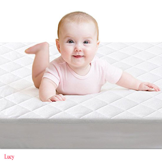 Super Absorbent Durable and Easy to Wash Waterproof Quilted Crib Mattress Pad Cover