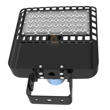 Black Portable 80W Led Parking Lot Fixtures