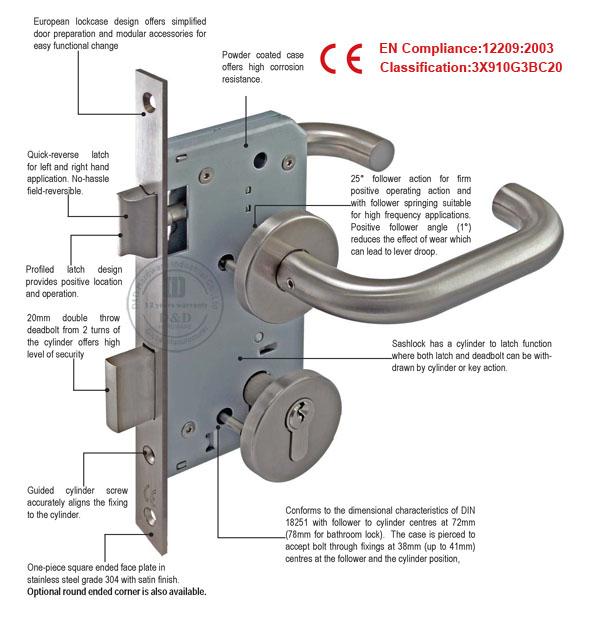 Stainless Steel 304 Sliding Door Hook Lock Used in Bathroom- D&D ...