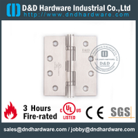Stainless Steel Grade 316 Full Mortise Fire Rated Door Hinge with UL Certificate for Fire Metal Door-DDSS443-DDSS001-FR