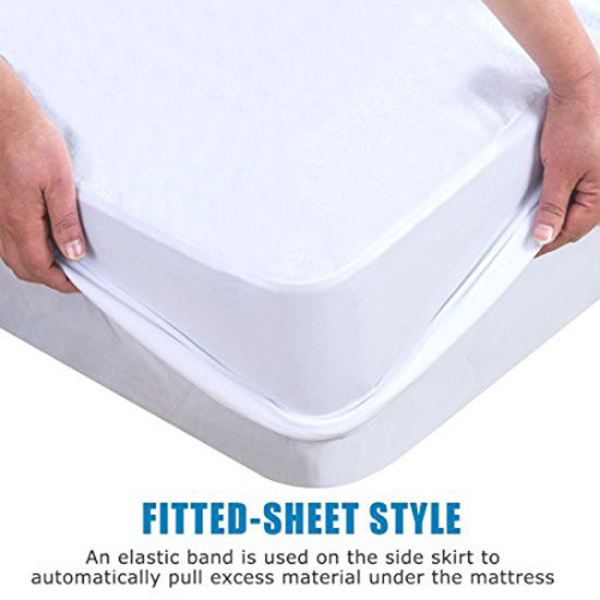 Breathable and Vinyl Free Fitted Waterproof Mattress Cover - King Size