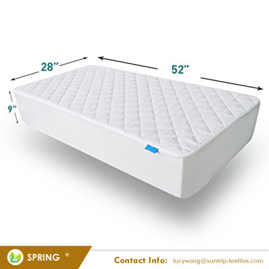 Waterproof Fitted Quilted Portable/Mini Crib Mattress Pad Cover