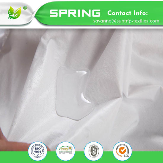 Non Noisy New Waterproof Terry Towel Cotton Mattress Protector Cover Fitted Bed