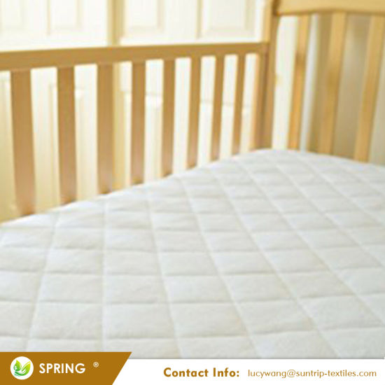 "Extra Durable Waterproof Quilted Cotton Crib and Toddler Mattress Pad Cover-28"" X 52"" X 9"""