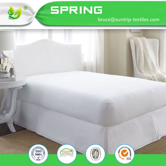 Premium Hypoallergenic Waterproof Mattress Protector Vinyl Free Fitted Mattress Cover Queen