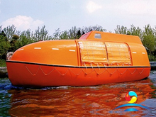 SOLAS Approved High Quality Marine Partially Enclosed FRP Lifeboat With Davit