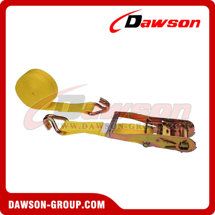 2'' x 27' Ratchet Strap with Double J-Hook- china manufacturer supplier - Dawson Group