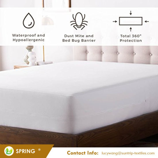 Premium Bed Bugs Mattress Protector - Hypoallergenic Protector for Allergen & Bed Bug Pest Control - Queen Size