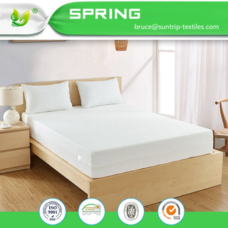 White Terry Towelling Mattress Cover Encasement Zip Closure Bed Single