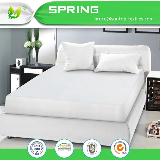 Mattress Protector Cover Terry Cloth Waterproof Soft Bed Sheet Queen Size White