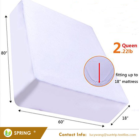 "Queen Size Stretches to 18"" Deep Plastic Waterproof Mattress Cover"