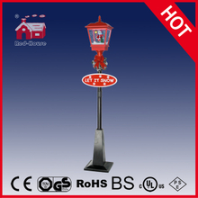 (LV180D-RH) LED Decoration Lighted Musical Snowing Christmas Street Lamp