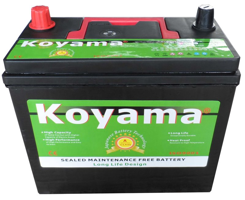 KOYAMA Most Reliable 12V35AH Mf Lead Acid Battery for Cars