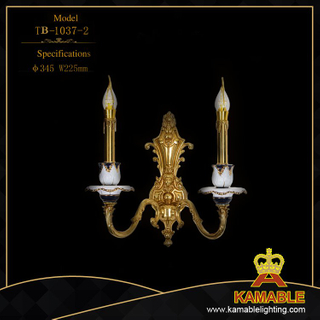 Hotel luxury brass with ceramic wall lamp (TB-1037-2)