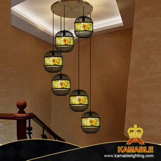 High Quality restaurant bamboo pendant light (KA-ZS188995)