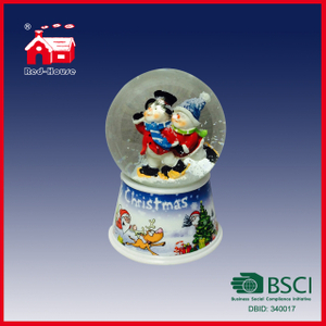Snow Water Globe for Sale Snow Resin Snow Water Ball Merry Christmas Snow Globe