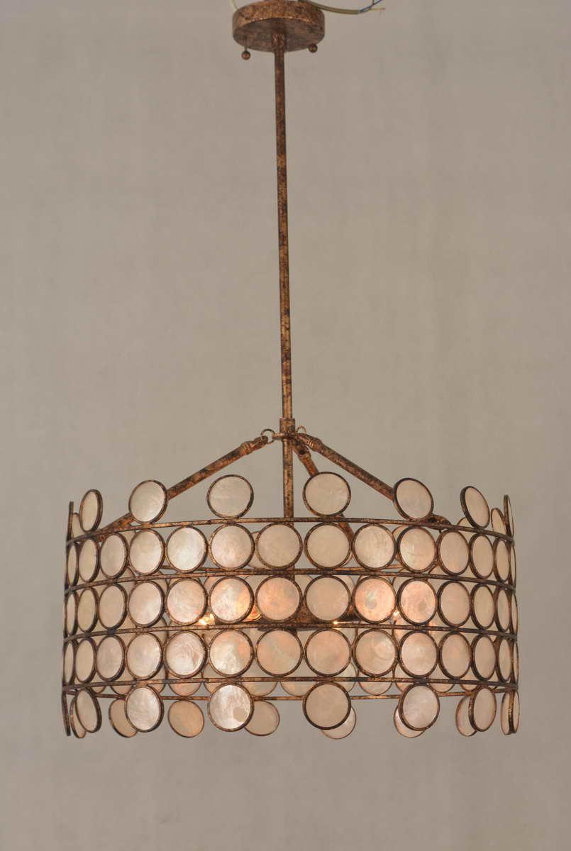 Retro Gold Plated Iron Shell Pendant Lighting Kahd1348 4