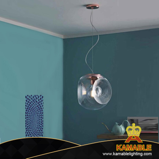 Clear glass iron ceiling lamp decoration (KA9987P)