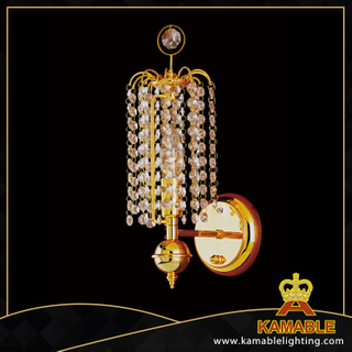 Eight-angle beads decorative crystal hotel wall lamp(YHwb2524- L1)