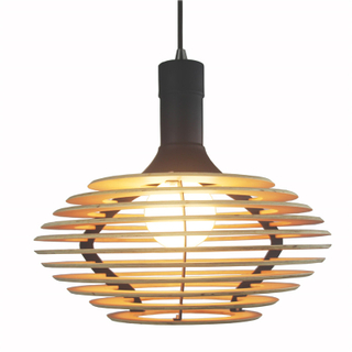 Indoor lantern style plywood decorative modern pendant lamp(KAM-P1001A)