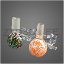 Two colored glass cigarette accessories hookah pipe fittings