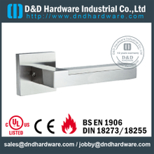 SUS304 good quality square tubular solid lever handle for Entry Door- DDSH178