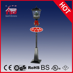 (LV180S-HH) Holiday Christmas LED Decoration Street Lamp with Snow and Music