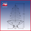(40110U120-HS) Snowing Christmas Tree with Delicate Ornaments Umbrella Base