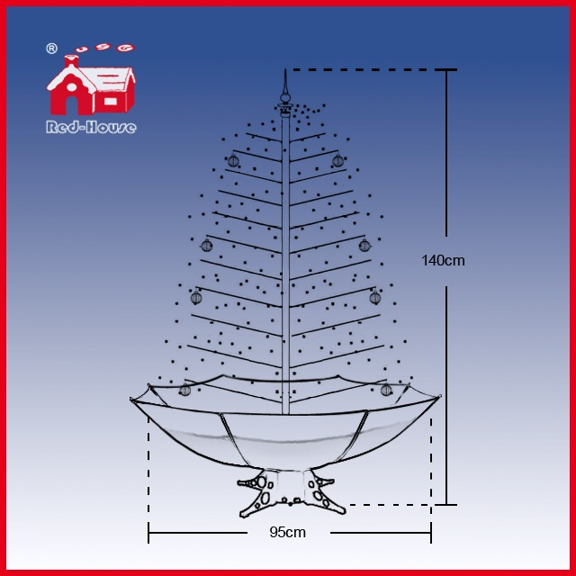 (40110U120-BW) Christmas Decoration Indoor Snowing Christmas Tree with LED Lights