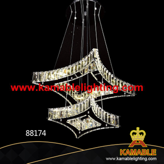 Double-Deck Square Crystal LED Lights (Kam88174)